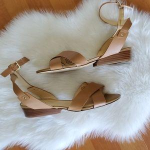 Nine West tan leather sandals Laird sz 10.5M